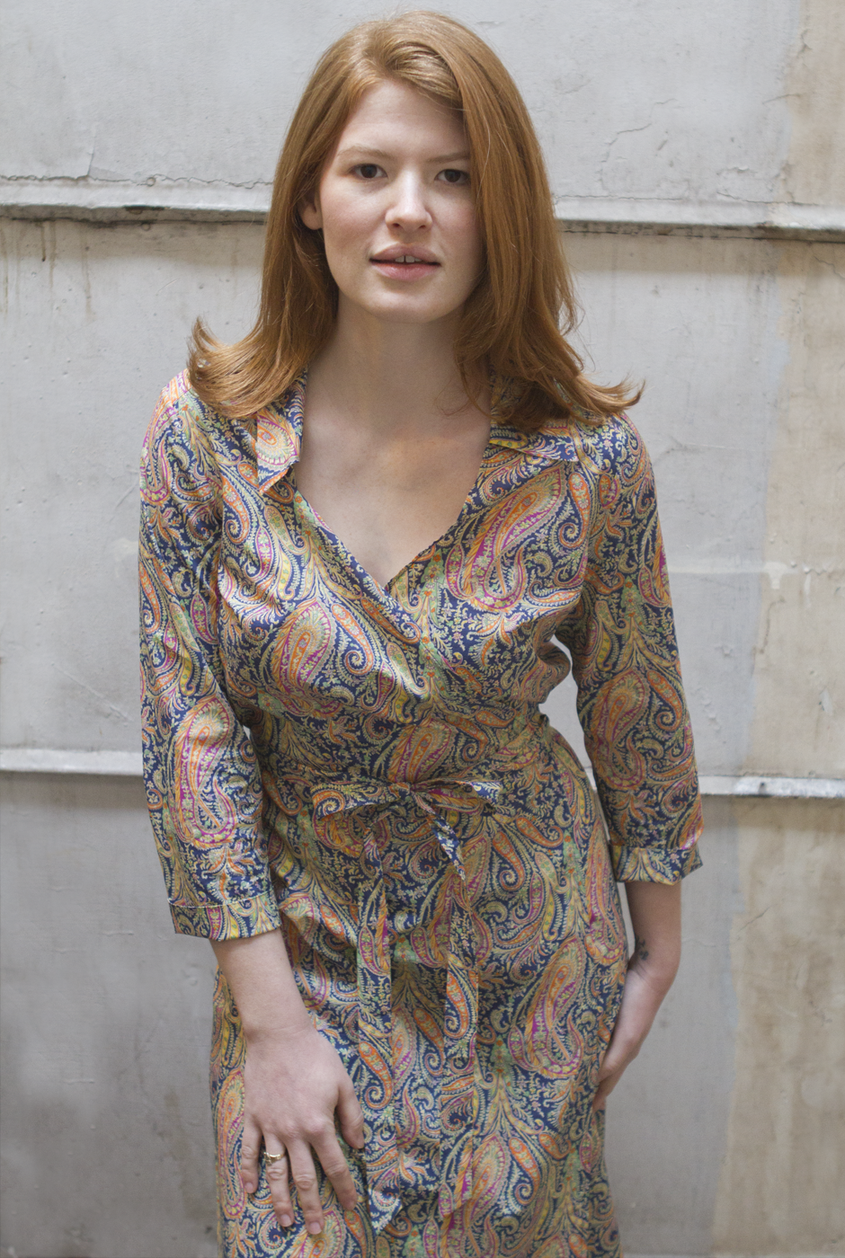 WRAP DRESS in LIBERTY of LONDON FELIX & ISABELLE PRINT