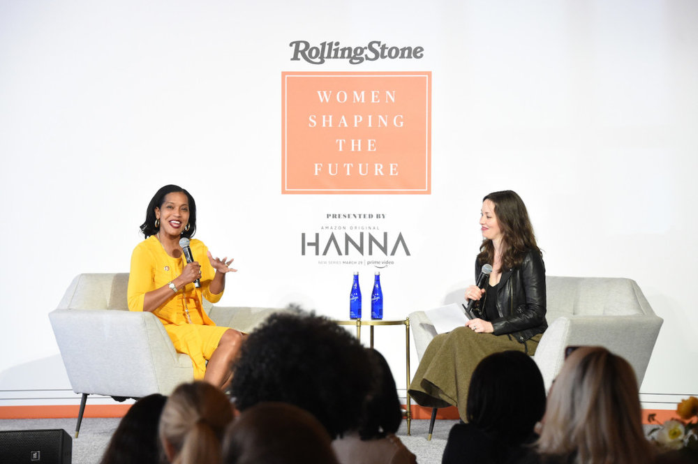 Johana Hayes speaks during the Rolling Stone's 'Women Shaping The Future' brunch hosted by Amazon Prime Original HANNA held at The Altman Building in New York, NY