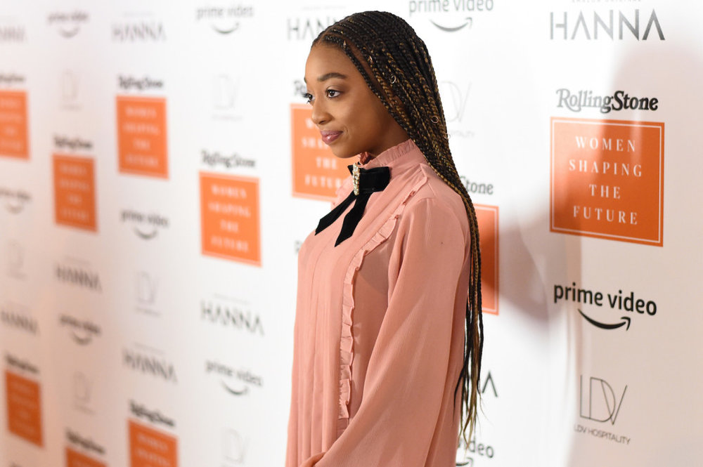Elis Baker attends Rolling Stone's 'Women Shaping The Future' brunch hosted by Amazon Prime Original HANNA held at The Altman Building in New York, NY