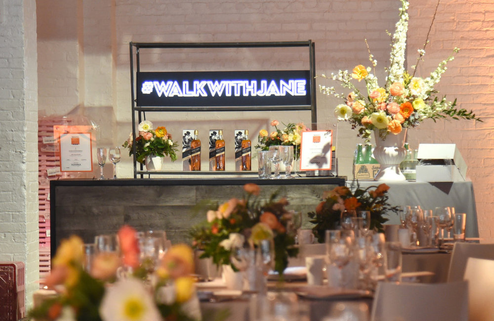 #walkwithjane atmosphere during the Rolling Stone's 'Women Shaping The Future' brunch hosted by Amazon Prime Original HANNA held at The Altman Building in New York, NY