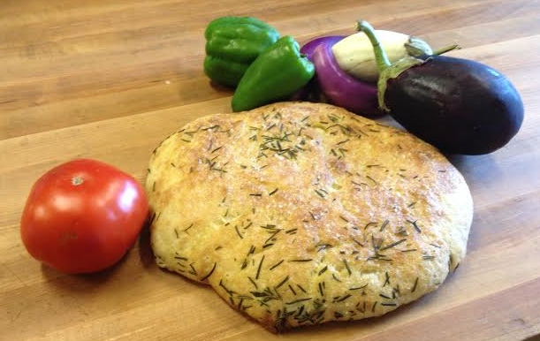 Fresh Focaccia and Fresh Veggies