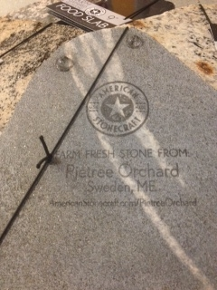 Stones are gathered from our fields, cut, polished and stamped with our name and address. What a great way to take a piece of Pietree home with you!