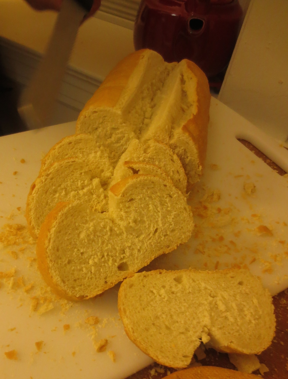 Sliced Heart Shaped Bread