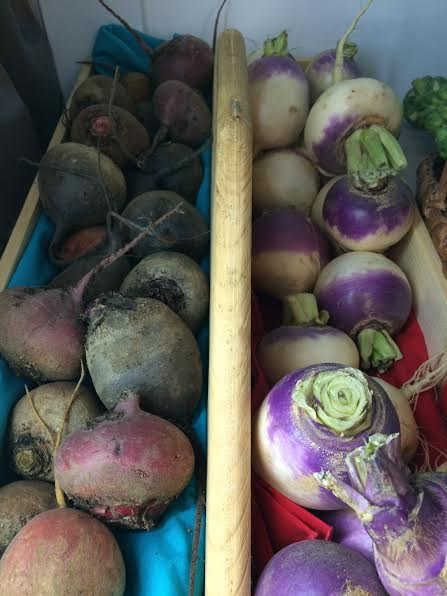 beets and purple top turnips