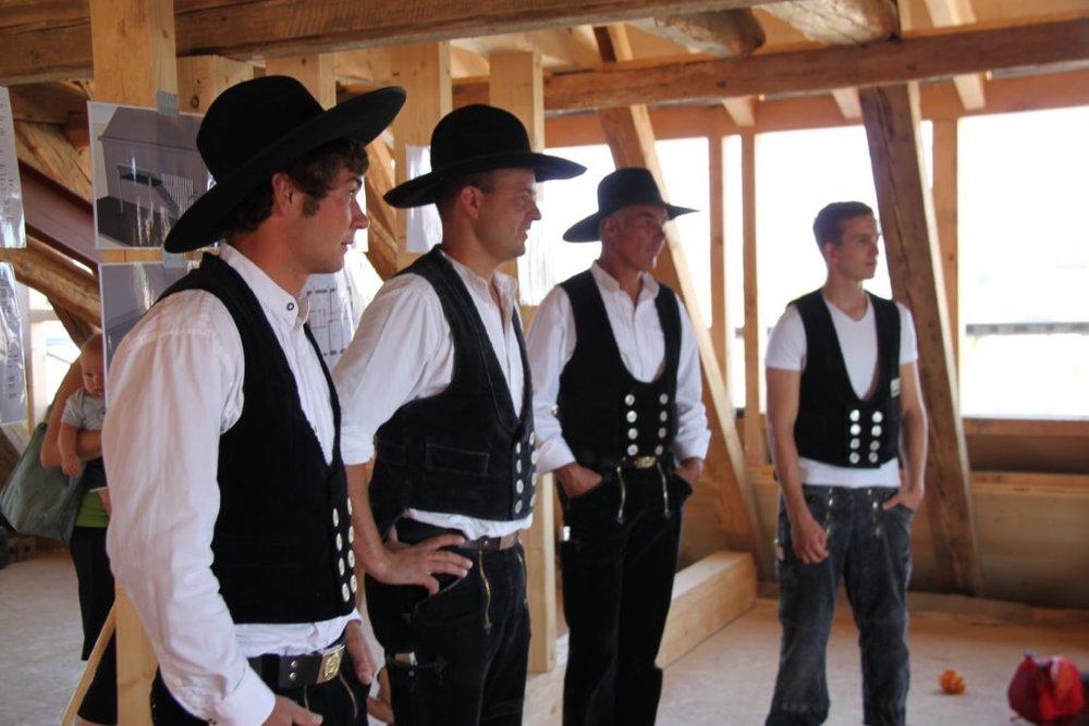 Am Richtfest Dr. Lang, Reichenau 2013