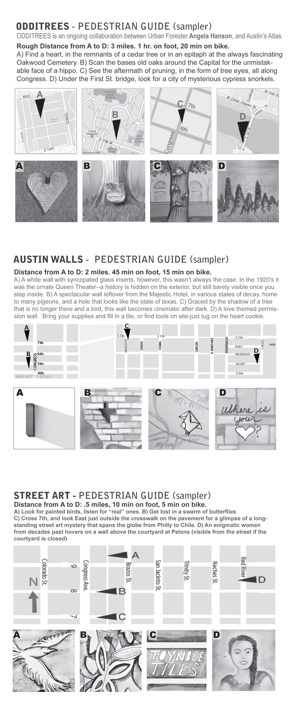 Sample (partial) Illustrated Pedestrian Guides