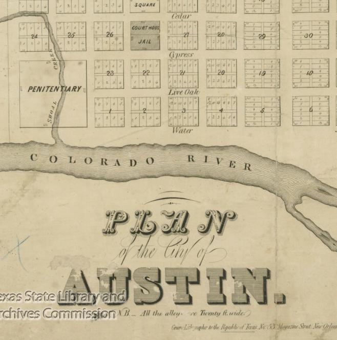 1839 plan of Austin