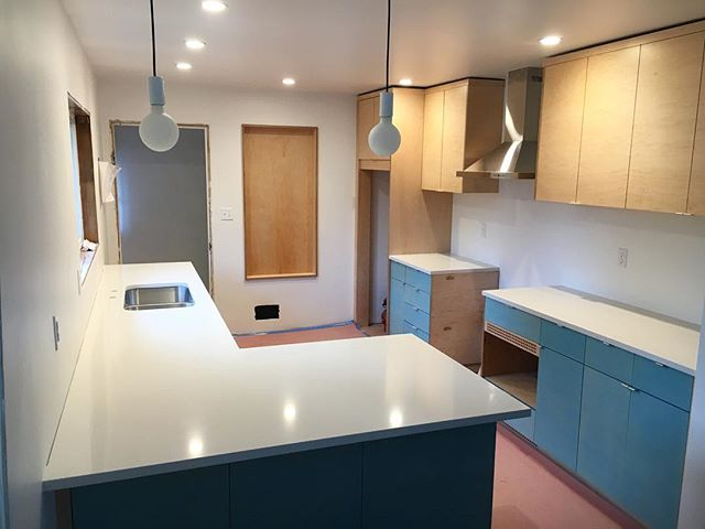 Just finished up a fun apple ply kitchen for a great client.