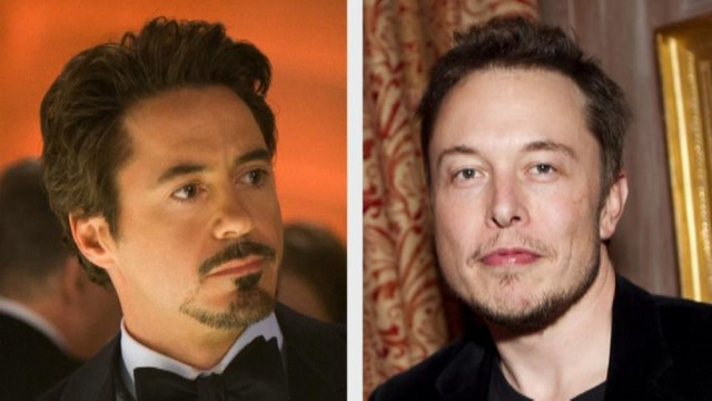Tony Stark and Elon Musk. Separated at birth?