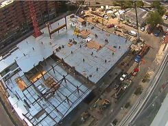 Boston's Brigham and Women's Hospital is in the midst of a major expansion. (Site cam: 11/23/14)