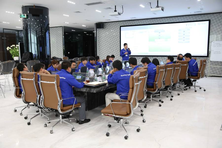 RIB is building collaboration labs like this one for an iTWO 5D software team in Guangzhou, China. (Photo: RSTA)