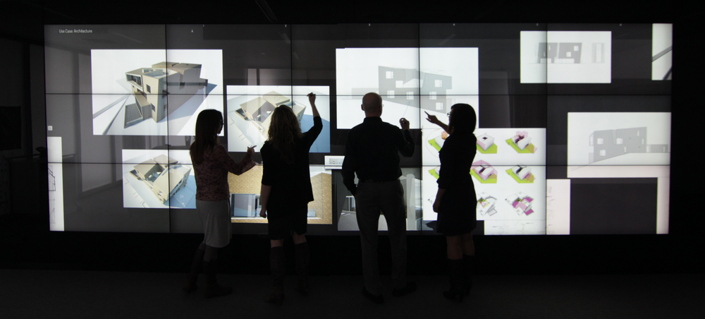 Bluescape's cloud-based interactive walls offer huge multi-touch screens for continuous collaboration. (Photo: Haworth)