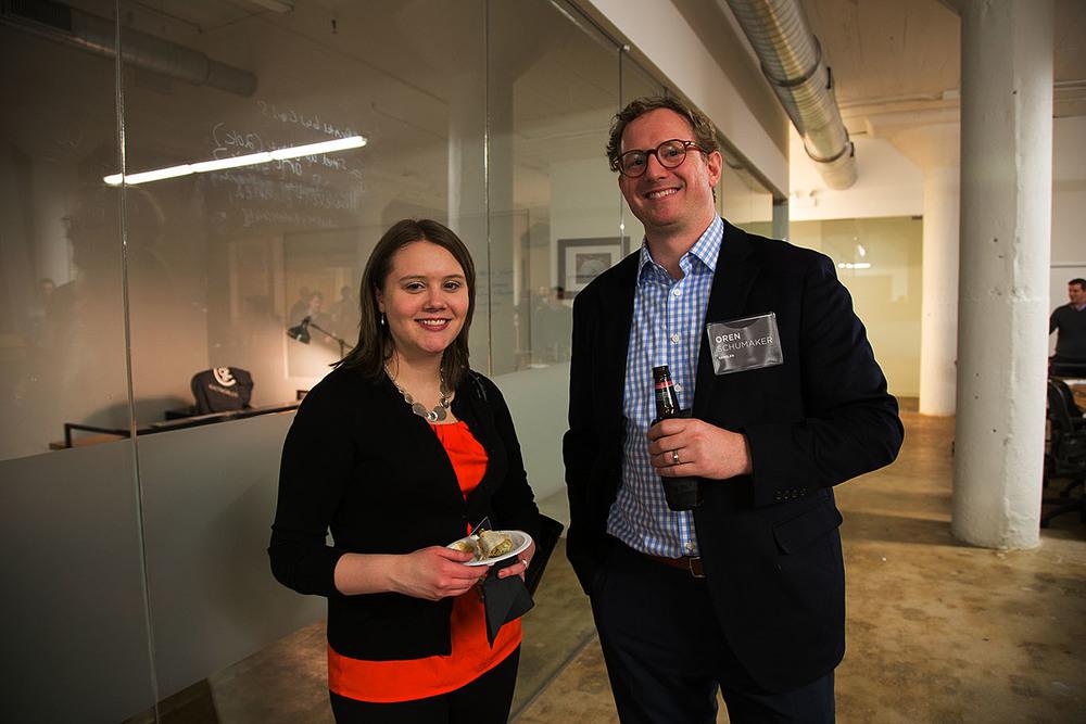 Samantha Flavin of  World Business Chicago andOren Schumaker of Gensler