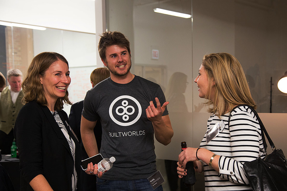 From left to right: Katherine Stalker of CAF, Karl Sorensen of BuiltWorlds and Kelly Floyd of CAF