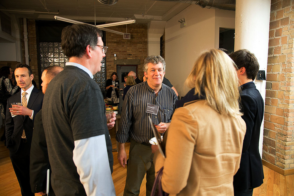 Rob McManamy of BuiltWorlds,Charlie Catlett of the  University of Chicago and  Argonne National Laboratory , and Hope Alexander of  Walbridge