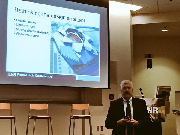 360 Architecture'sBill Johnson, AIA, presenting last month in Atlanta.(Photo by Pointivo)