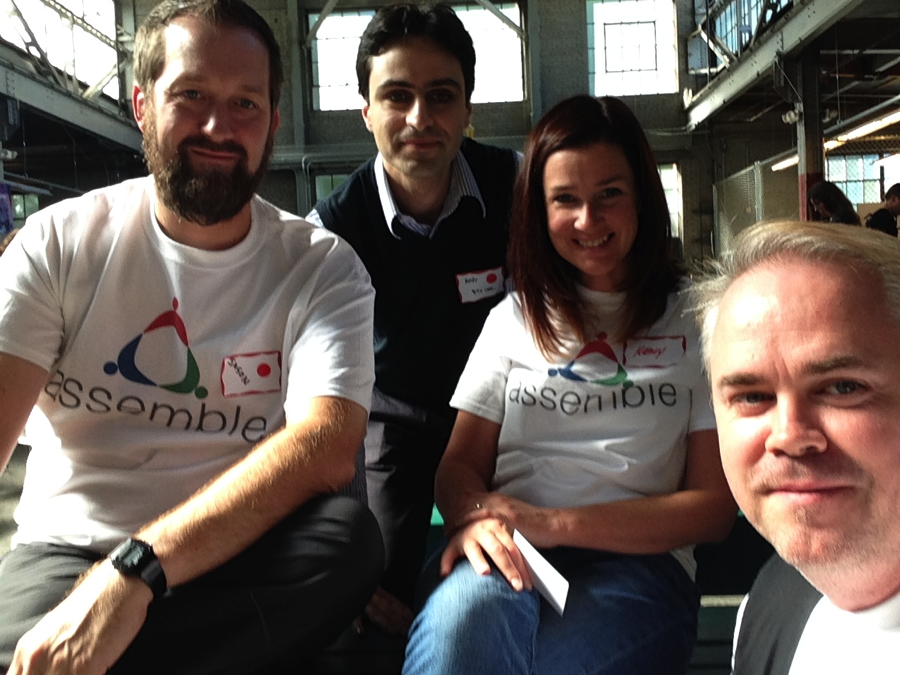 Seattle Selfie: Assemble's team at last fall's AEC Hackathon, where it won the prize for best 3D App.