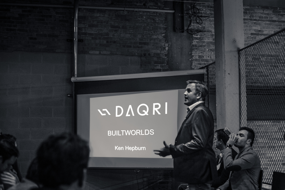 In from Los Angeles, DAQRI's Ken Hepburn discussed his firm's Smart Helmet, which is still in Beta testing, but close to advancing to the next level.