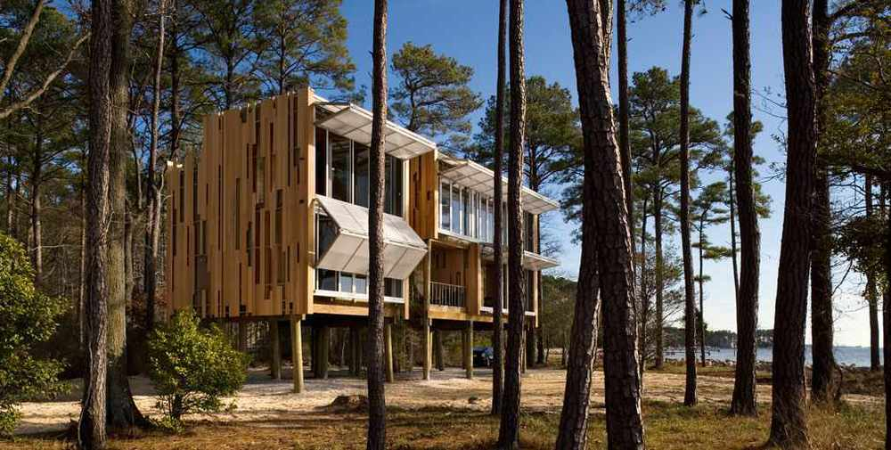 Loblolly House, designed by KieranTimberlake Architects, used integrated assemblies fabricated off site.