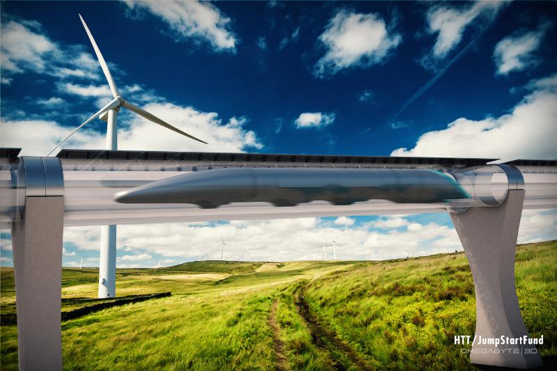 Is this the desktop background to Windows XP21 Century?  No, it's the Hyperloop!  (See 'pneumatic tube, humans')