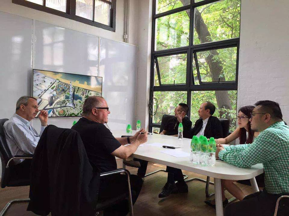 Digital welcome: The author and SVP Michael Shaw (far left) meet with new 'Digit Groupies' in Guangzhou.