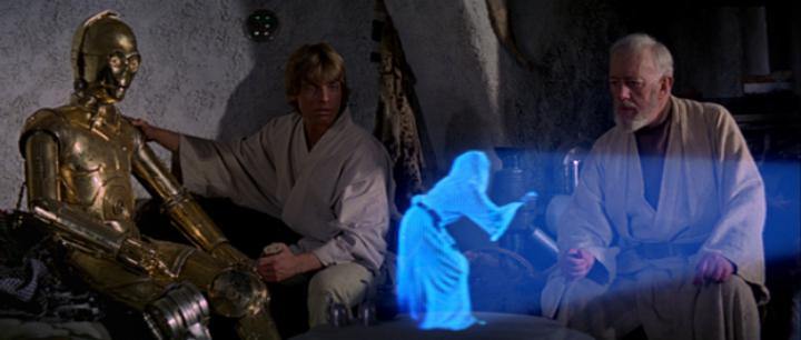 """First impression: For many, the imageof ahologramdates back tothe 1977 sci-fi filmStar Wars, aka""""Episode IV""""."""