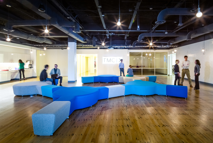 Reconfigurable furniture enables users to 'hack' the workplace. Image © Shau Lin Hon