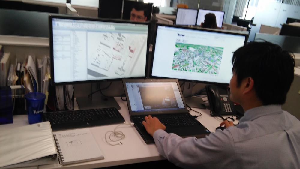 BIM expertSatoshi Kiyoni works on the latest model this spring.