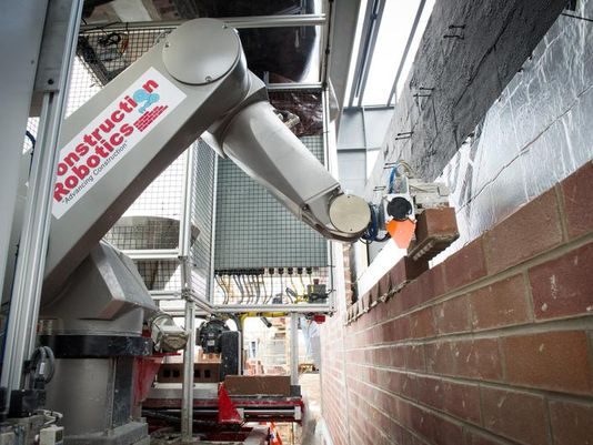 iBricklayer: In 2013, Construction Robotics unveiled the semi-automated mason (SAM) that can lay up to 3,000 bricks in a day. Earlier this year, it was named 'Most Innovative Product' at World of Concrete.