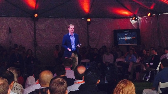 Tent Tech Talk: In May, McKinney gave the keynote at Procore's groundbreak 2015 conference in Santa Barbara.