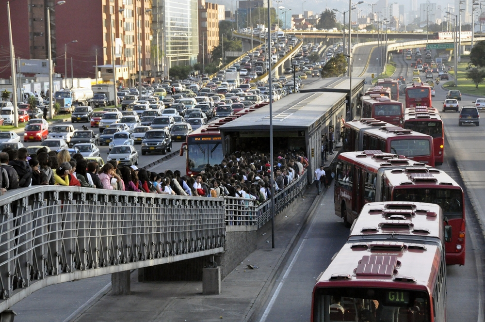 Traffic Troubles: The average daily commute for everyone in Bogota, in any direction, is 70 minutes!