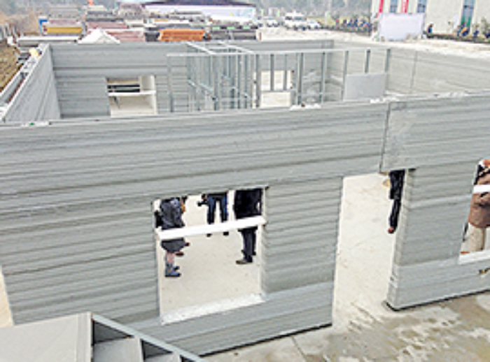 A 3D-printed structure for the affordable housing market in the Middle East. (Photos c/oGensler)