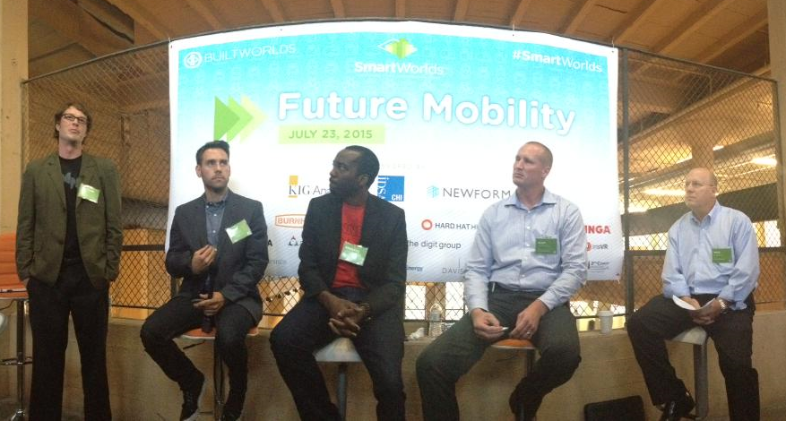 Connectedness: Our Infrastructure Functionality panel (from left), Clifford Krapfl (TEAMS Design); Caleb Hudson (Tesla); Adebayo Onigbanjo (Zebra Technologies); and Glen Campbell & Mike Garcia, both from Patrick Engineering.
