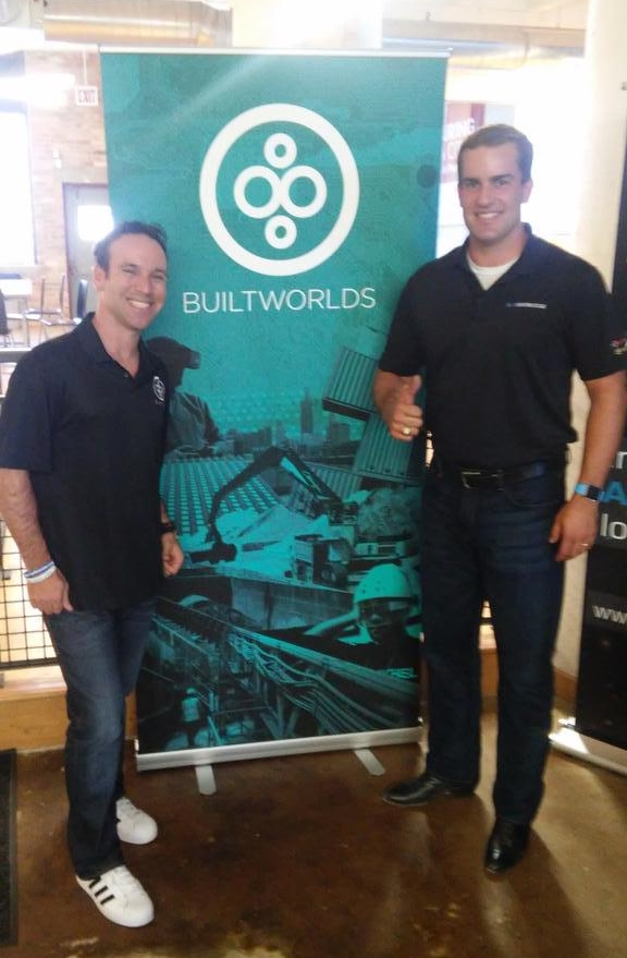 In our orbit: After the conference, our own Matt Abeles (left), welcomed Benham to BuiltWorlds. BW is pleased to be working with JBK in association with MCAA.
