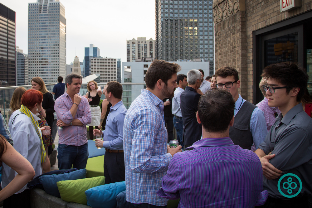 Crowd of sponsors, including  Pridgit ,  Catalyze Chicago , and  Patrick Engineering , makes it a party