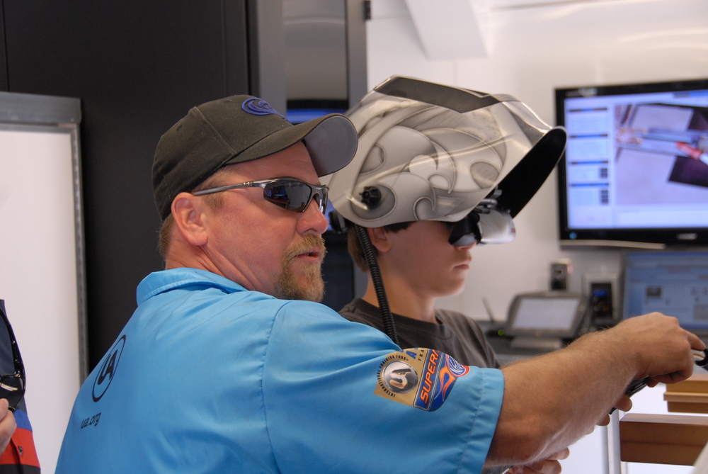 Virtual welding  was among the most popular of the VR tools available.