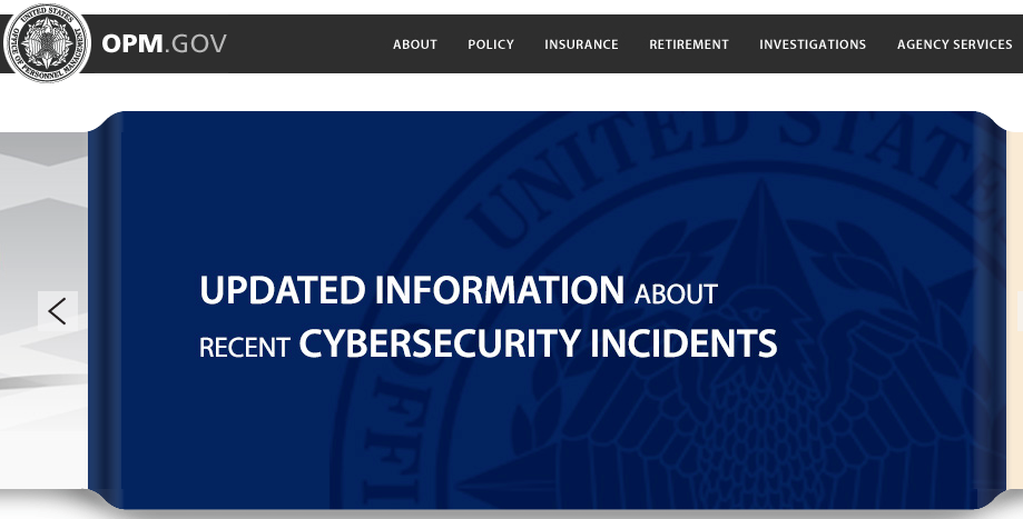 Two months later: If you visit the U.S. Office of Personnel Managementhome page, this is still the first image you see.