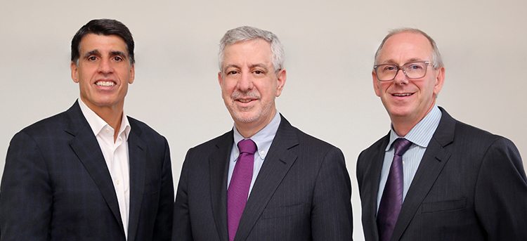 Three amigos: From left, Chairman Scarangello and Co-Presidents Daddazio and DeScenza.  Photo by Bess Adler.