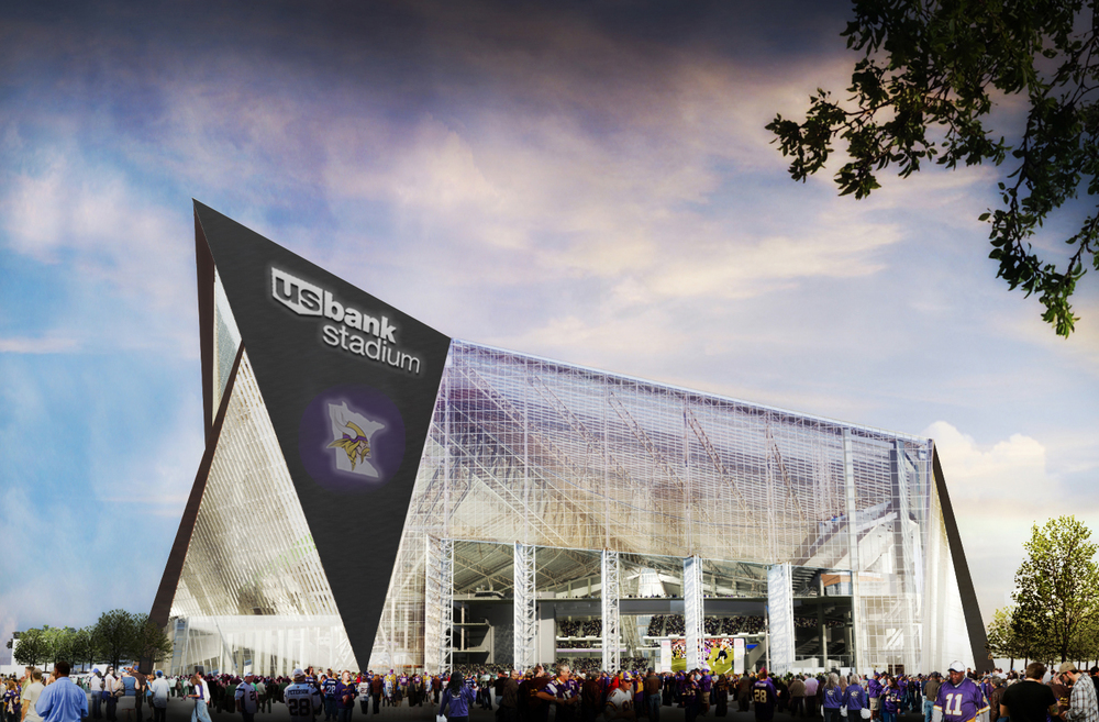 The Minnesota Vikings new home is still a year away.