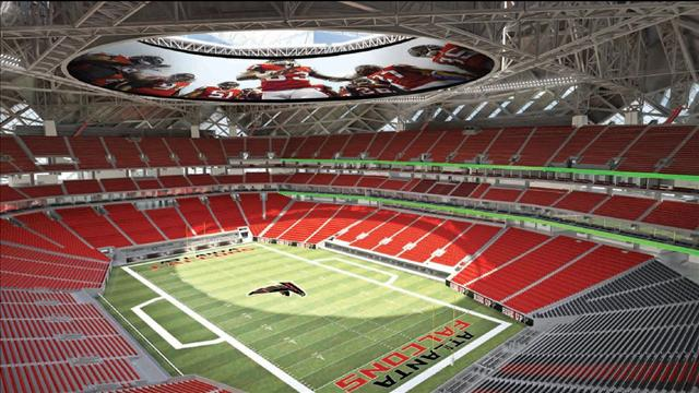 Atlanta's new football palace is aiming for LEED Platinum.