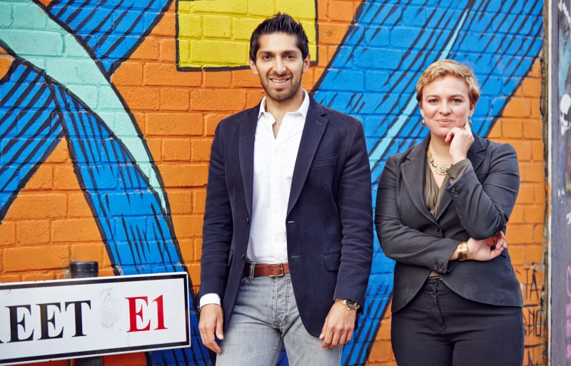 Faisal Butt, Founder, PI Labs with Juliette Morgan, Partner at Cushman & Wakefield