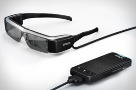 Epson Moverio: Augmented Reality glasses.