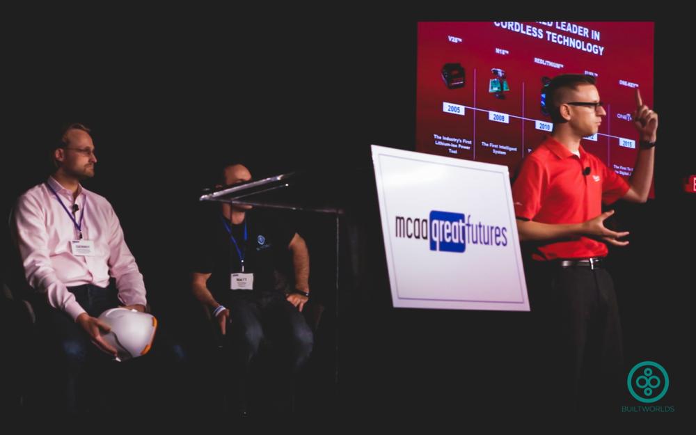 Milwaukee Tools'Steve Matson had plenty to talk about.
