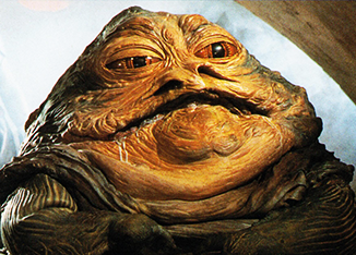 Pre-diet: Jabba the Hutt in 1983.
