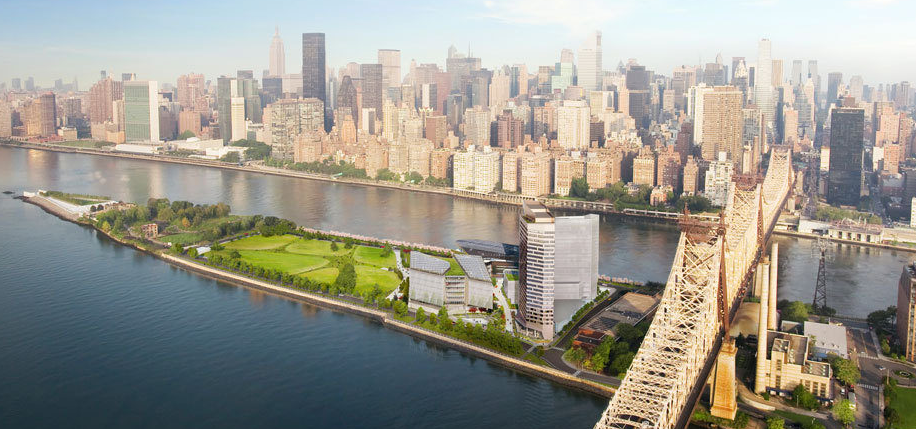 Renderings of the Cornell Tech Campus, located just south of the 59th Street Bridge connecting Manhattan to Queens. Construction has started this summer, aiming for completion in 2017. (Images c/o Handel Architects.)