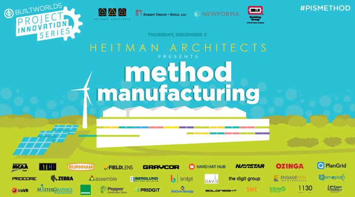 COMING THURSDAY, DEC. 3: Heitman Architects is proud to host the next event in our Project Innovation Series.