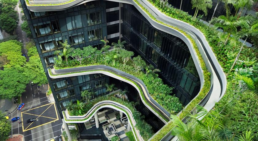 PARKROYAL on Pickering: Singapore's uber eco-friendly hotel took home the prize for top urban habitat.