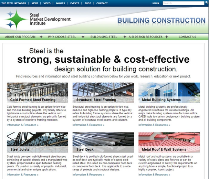 Earlier this month, SMDI launched this new educational website just for construction, BuildUsingSteel.org.