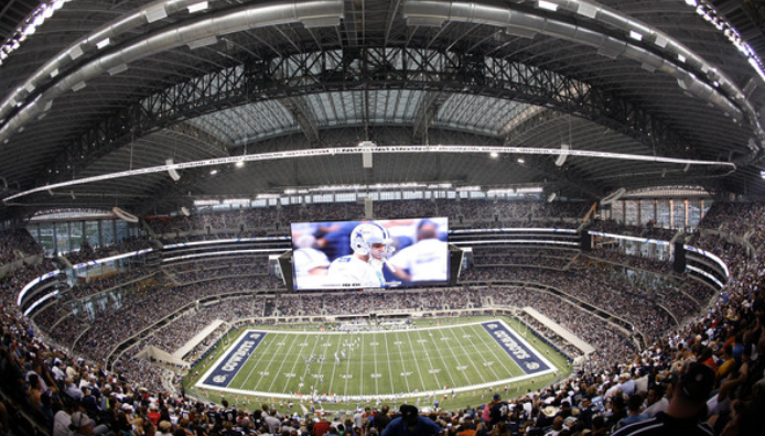 "Cowboys stadium redefined ""big"" in the category of scoreboards, and rivals' efforts to go even bigger continue today."