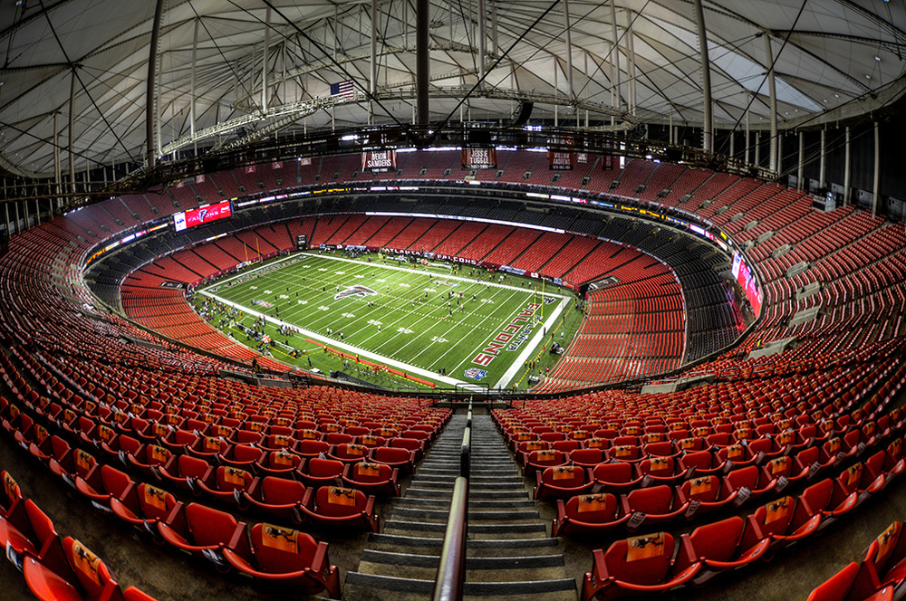 Georgia Dome: Quite empty here. Completely empty come 2017.